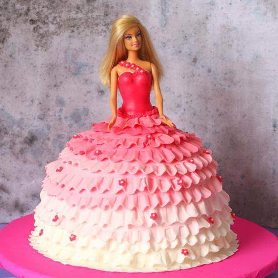 Торт барби с кремом с фото